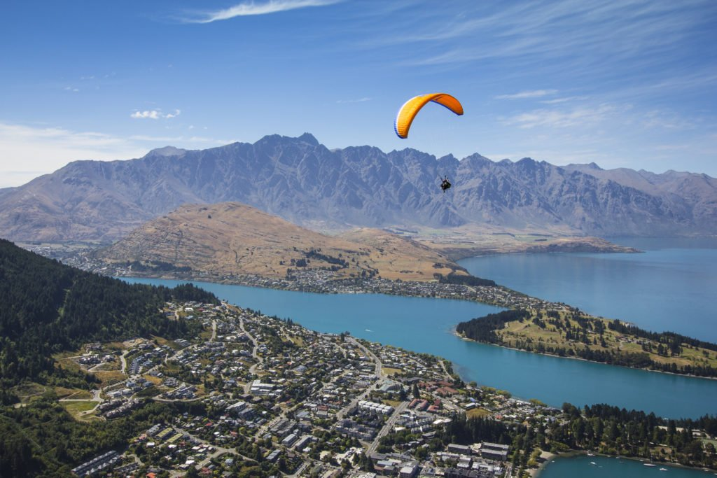Paragliding-from-Bobs-Peak- Summer- Queenstown