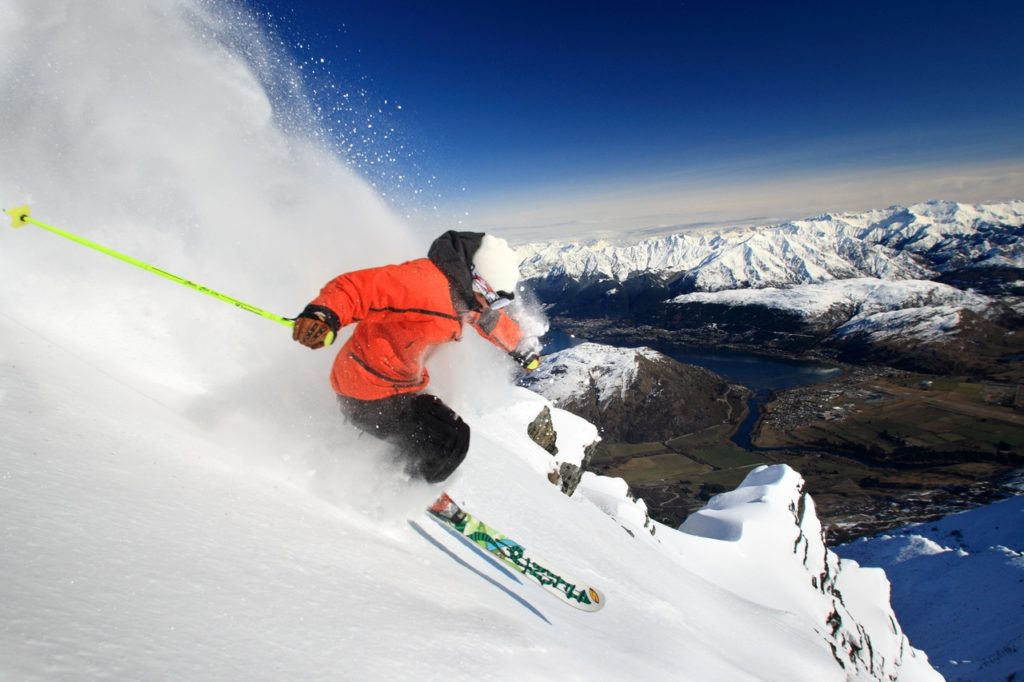 Skiing at The Remarkables 1024x682